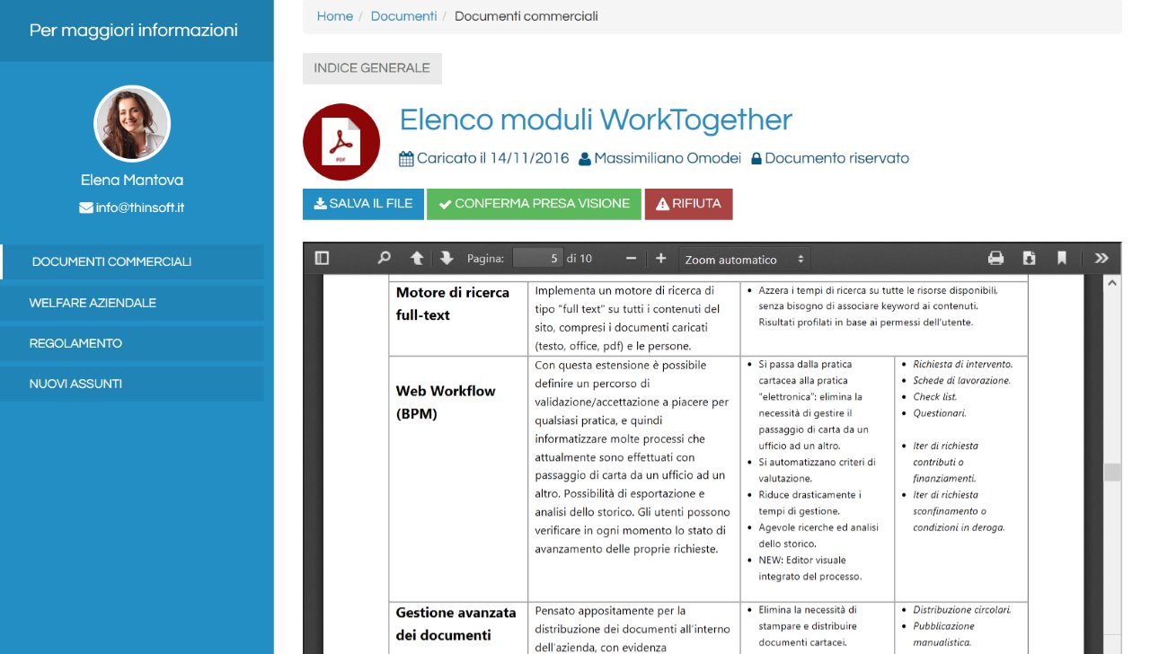 Documento aperto in WorkTogether